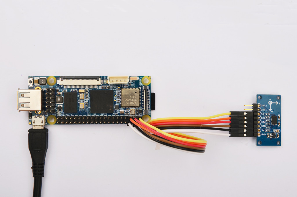 NanoPi with 3 axis accelerometer.